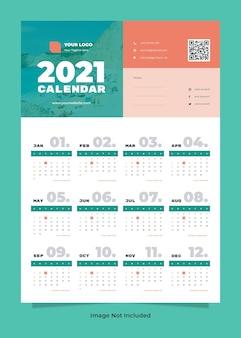 Modello di calendario da parete di viaggio