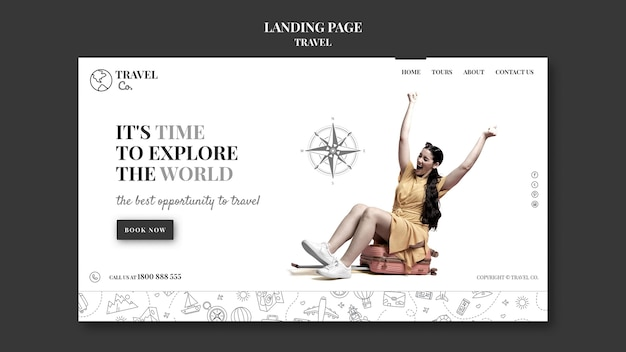 Viaggia per la pagina di destinazione del mondo
