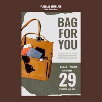 Modello di stampa borsa da viaggio