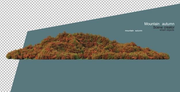 Alberi e piante in montagna in autunno
