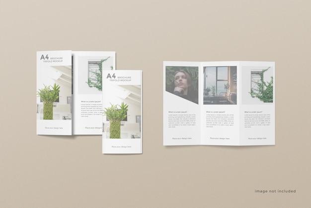 Brochure a tre ante mockup design