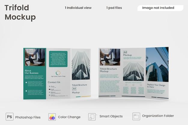 Modello di brochure a tre ante psd premium