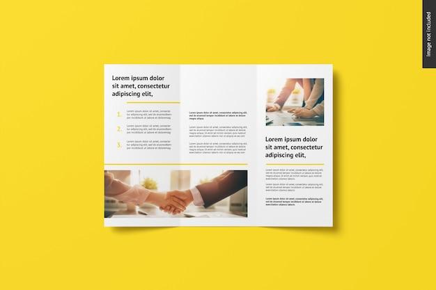 Mockup di brochure a tre ante Psd Premium