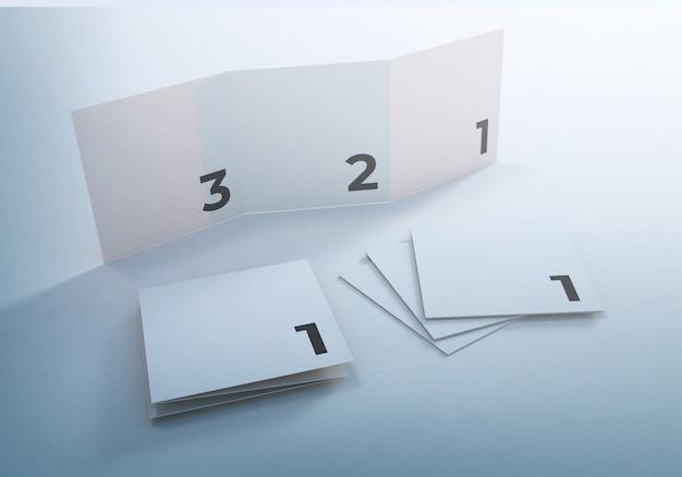 Modello di progettazione brochure aziendale mockup pieghevole a tre ante