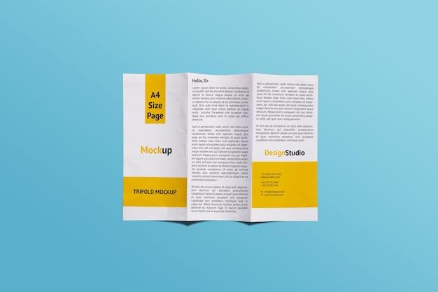 Trifold mockup design rendering isolato