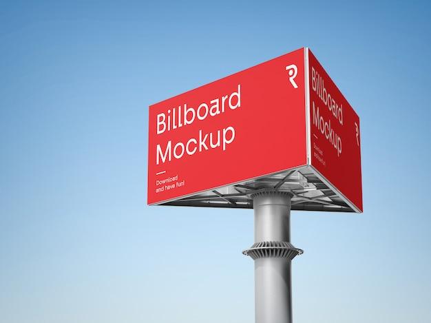 Triple billboard mockup