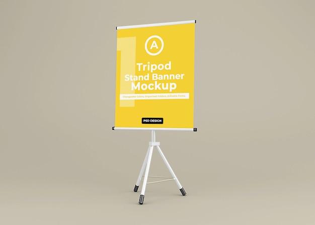 Treppiede banner stand mockup design