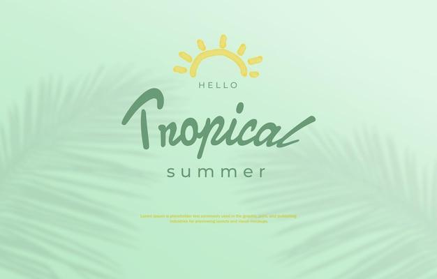 Fondo tropicale di vendita di estate delle foglie di palma