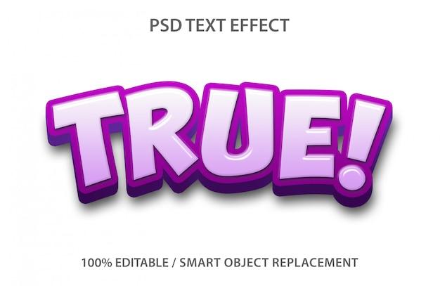 Vero effetto di testo