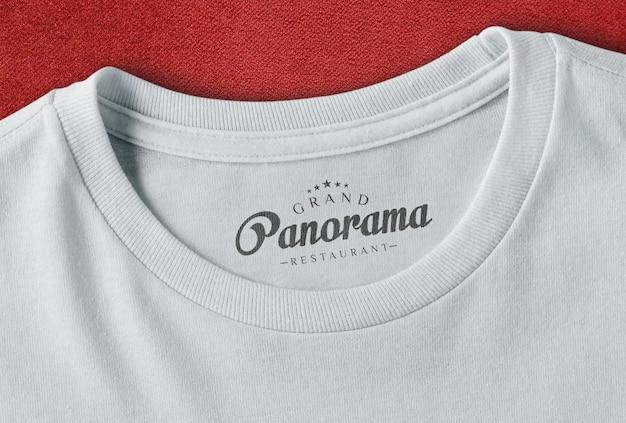 Mockup del logo del marchio della maglietta