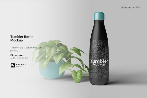 Mockup di bottiglia tumbler