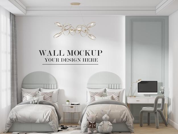 Sfondo della parete della camera da letto doppia