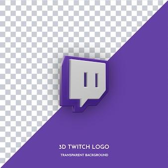 Icona di stile 3d dell'app twitch