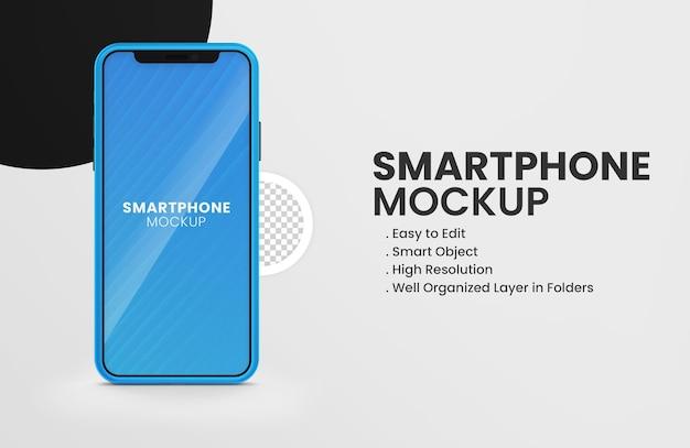 Sul mockup del dispositivo smartphone a colori di twitter