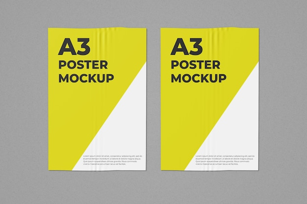 Due poster mockup a3