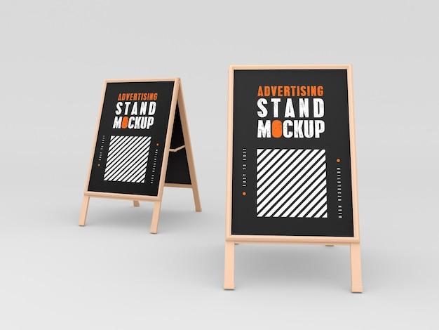 Due mockup di stand pubblicitari