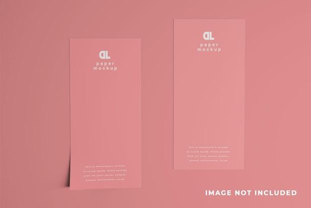 Due dl flyer clean mockup design