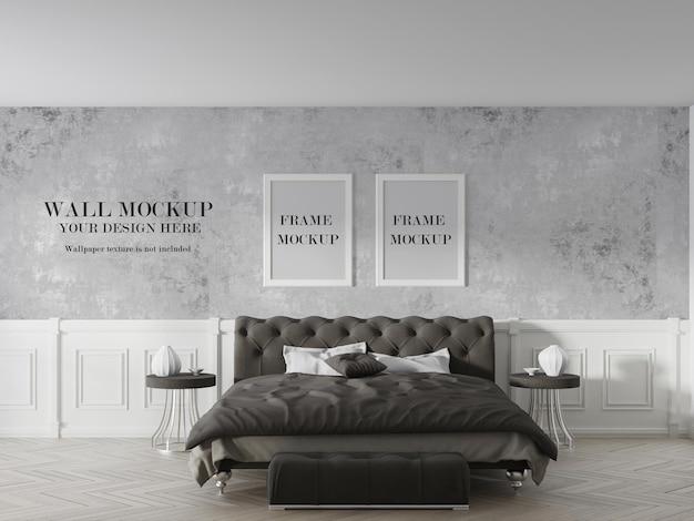 Due cornici e design del mockup della parete della stanza
