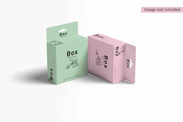 Due mockup di scatole sospese