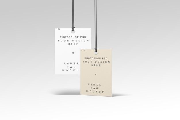 Due mockup etichetta di moda etichetta vista diversa