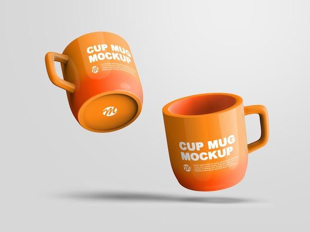 Due mug mockup design