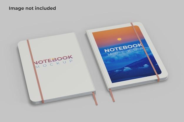 Vista ad angolo sinistro di due notebook mockup
