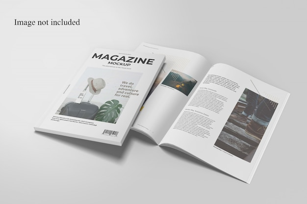 Two perspective magazine mockup