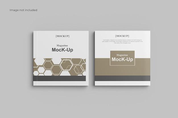 Brochure mockup di due lati quadrati