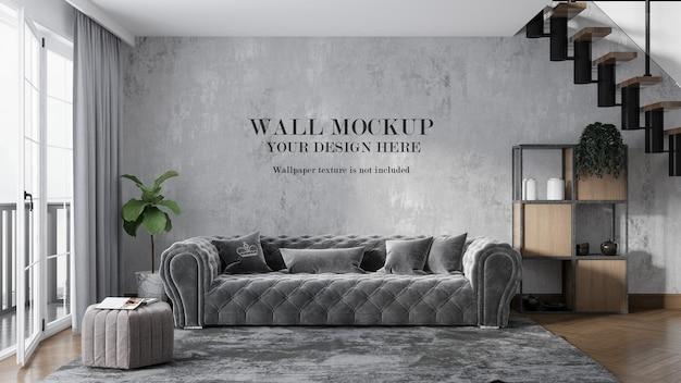 Mockup di muro di casa a due piani