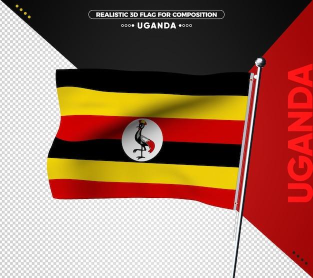 Bandiera dell'uganda per la composizione