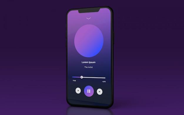 Mockup di smartphone di presentazione dell'interfaccia utente