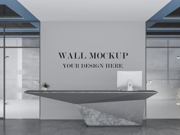 Mockup di parete della reception ultra moderna