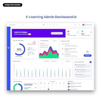 Interfaccia utente del dashboard di amministrazione di ultreos-e learning