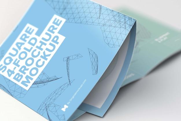 Mockup di brochure pieghevole a 4 pieghe