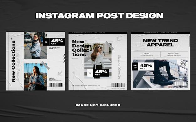 Modello di instagram di social media di moda urbana