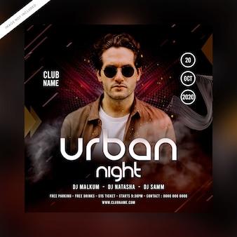Volantino festa notte urbana