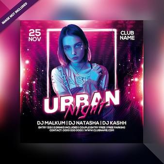 Volantino festa urbana di notte