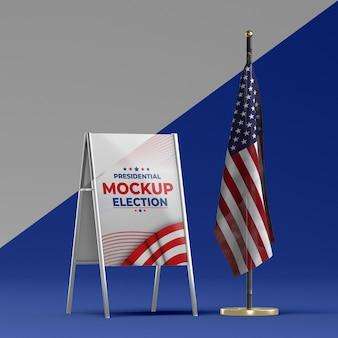 Mock-up del concetto di elezioni americane