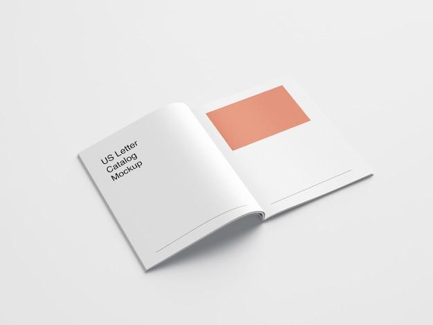 Mockup di brochure lettera usa