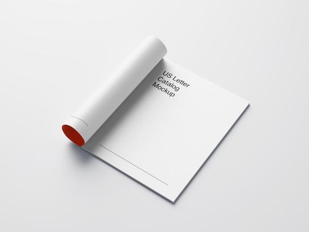 Mockup di rivista di lettere usa