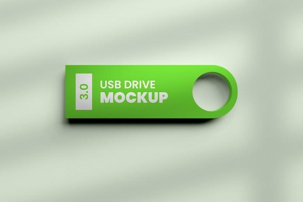 Mockup di unità flash usb nel rendering 3d