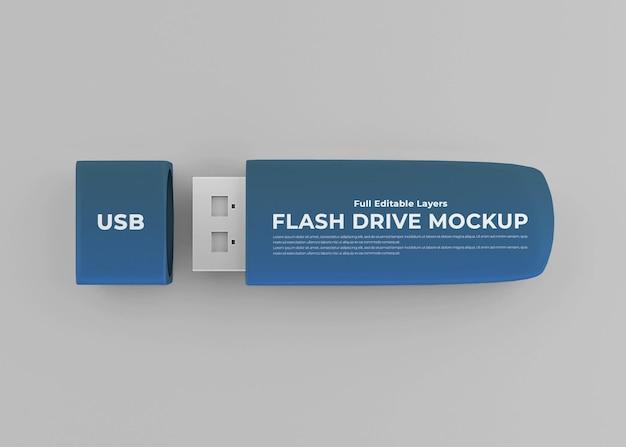 Mockup di chiavetta usb flash drive