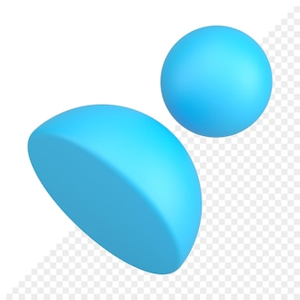 Icona 3d avatar utente