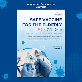 Modello di poster di vaccino