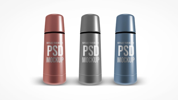 Bottiglia di vuoto mockup rendering 3d design