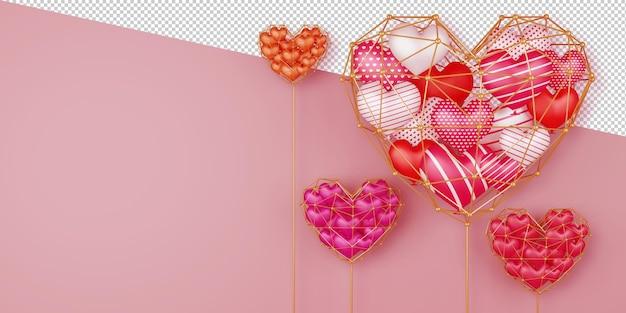 Priorità bassa di concetto di san valentino nella rappresentazione 3d