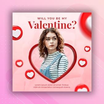 Banner di post instagram social media celebrazione di san valentino