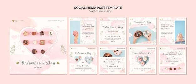 Post sui social media di san valentino