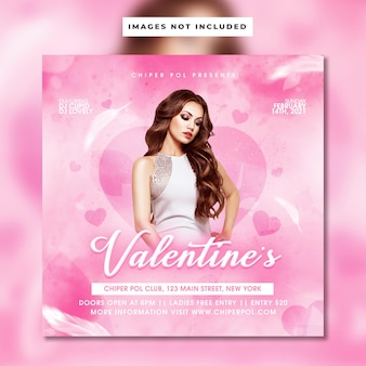 Valentine flyer template design