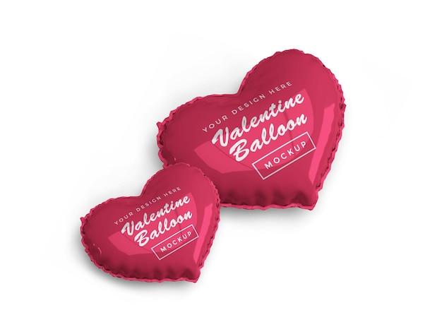 San valentino cuore palloncino mockup design